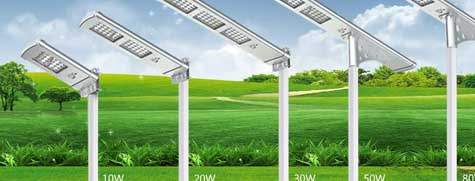 Solar stree led lights