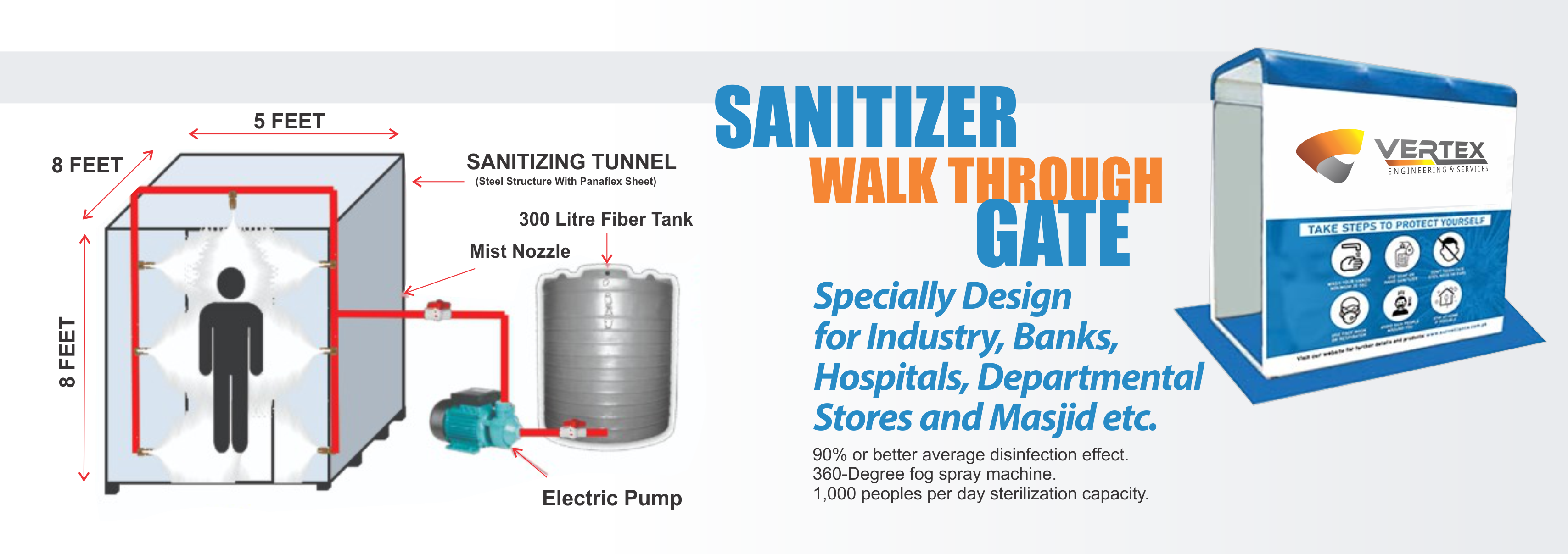 sanitizer walk through gate